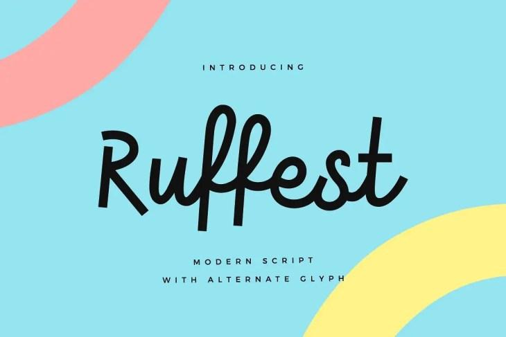 Ruffest Modern Script Font