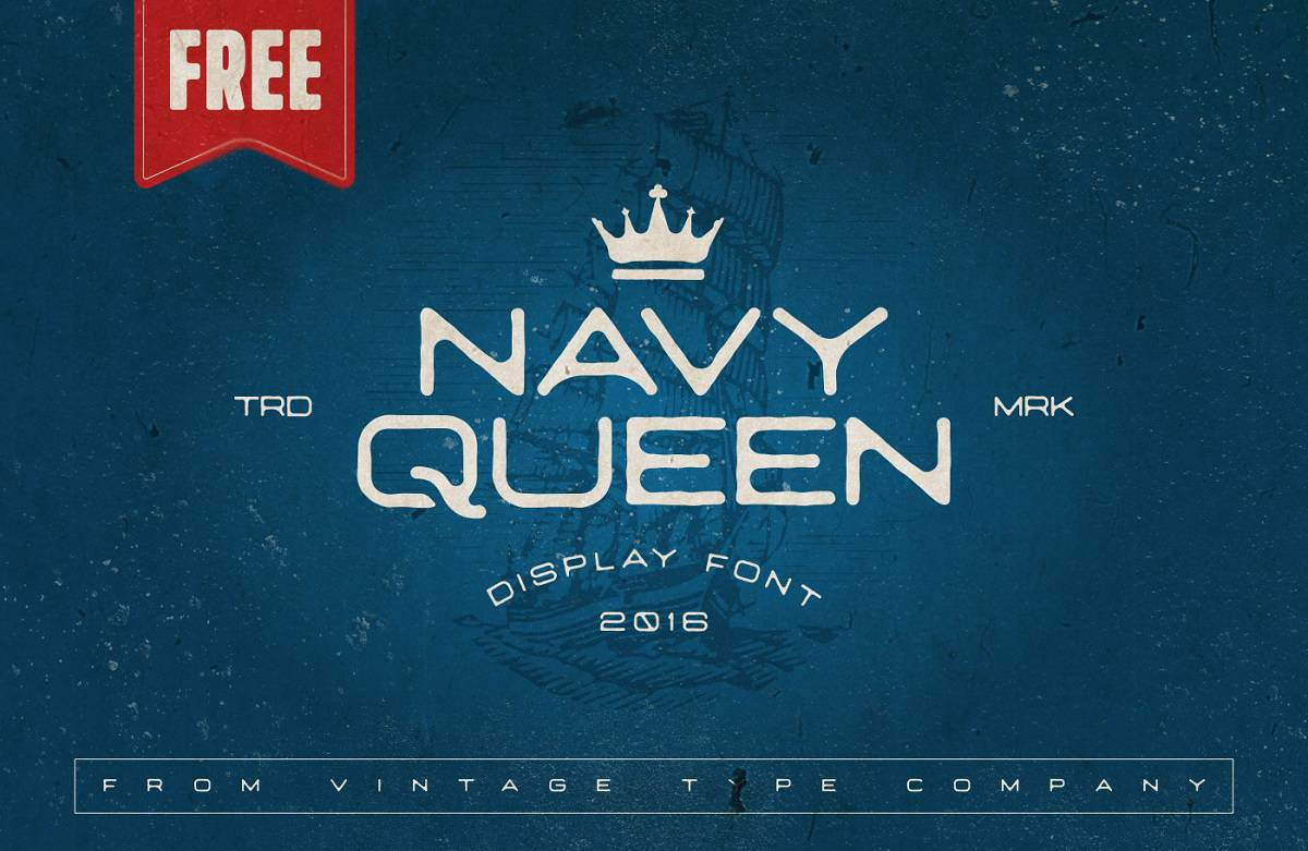 NavyQueen FREE Display Font