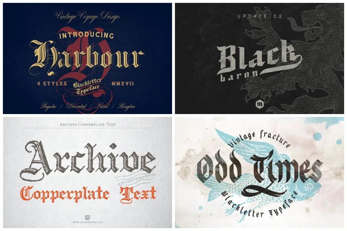 Blackletter Fonts