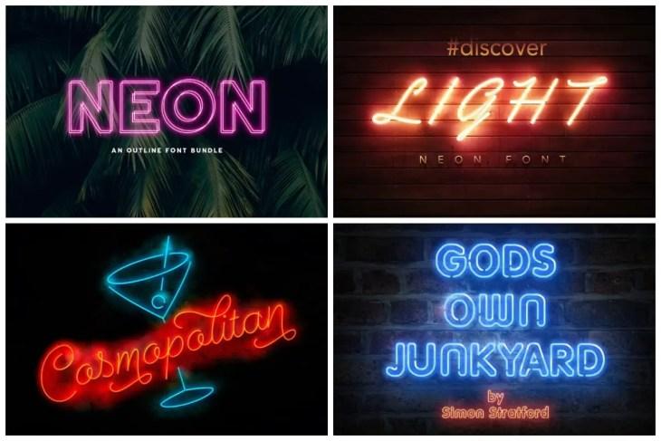 Premium Neon Fonts
