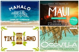 Tropical Hawaii Fonts for Beach Lovers