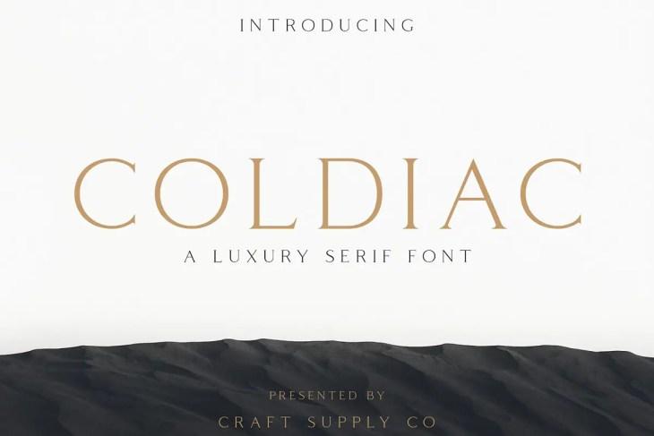 Coldiac Font