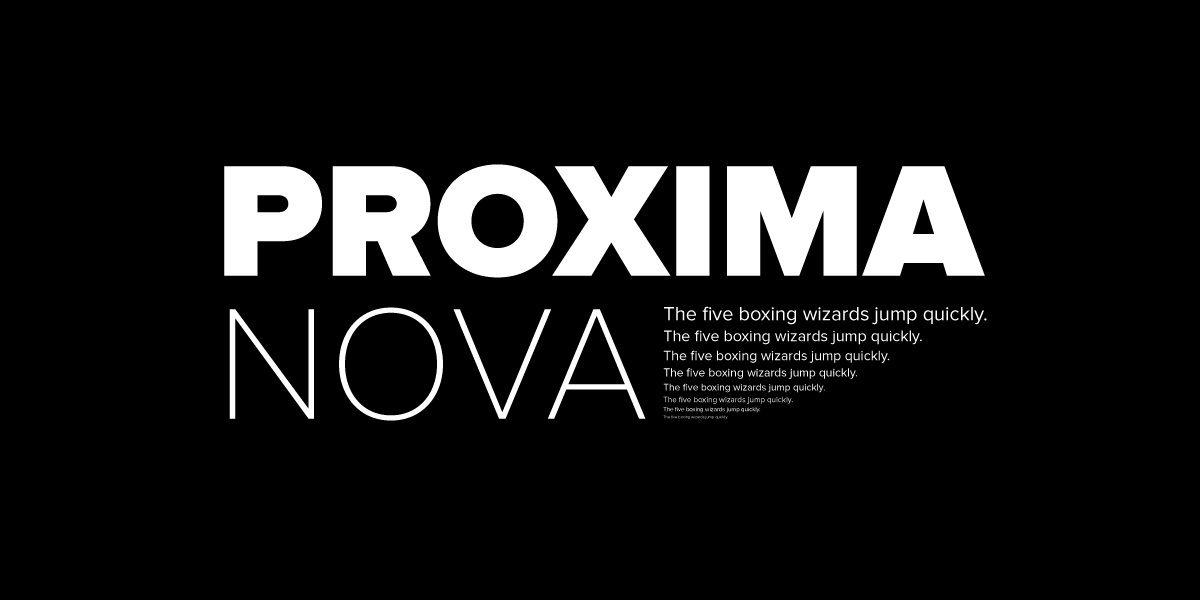The Proxima Nova family