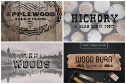 Wood Fonts min