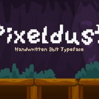 Pixeldust - Handwritten Pixel Font