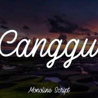 Canggu - Monoline Script Typeface