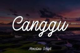 Canggu Monoline Typeface