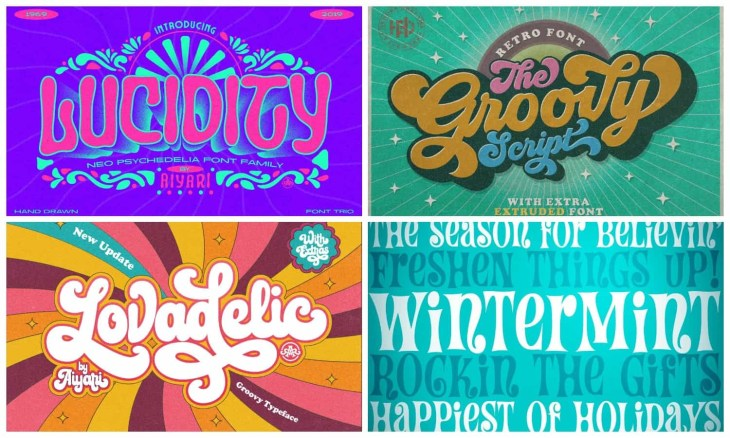 Groovy Psychedelic Fonts