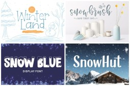 Snow Fonts cover min