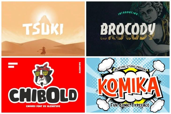 Manga Fonts cover min