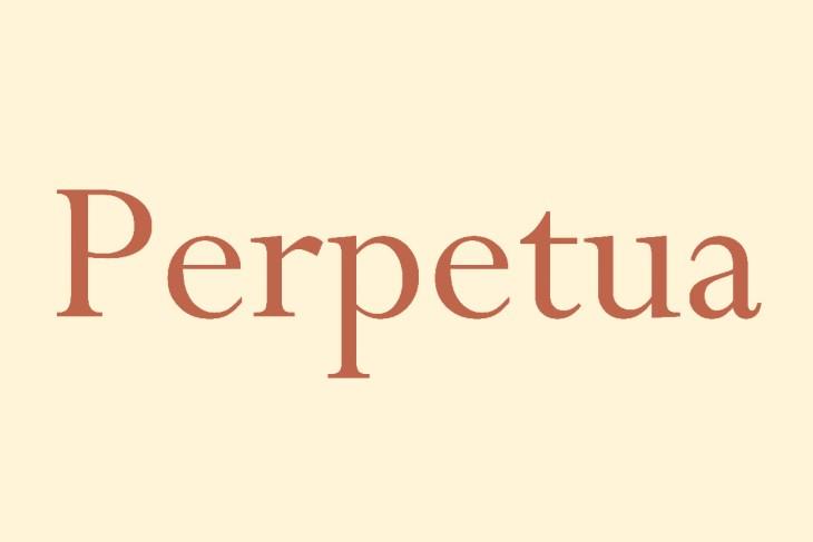 Perpetua Typeface