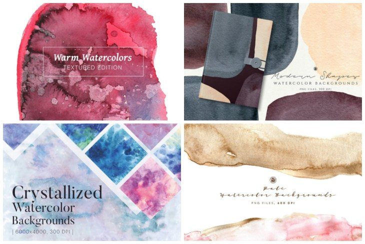 Watercolor Backgrounds cover min