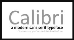 calibri font cover min
