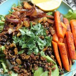 Roasted Carrot and Red Quinoa Salad for #SundaySupper