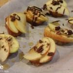 Apple, Brie and Honey Bruschetta.