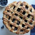 Lattice Top Blueberry Pie