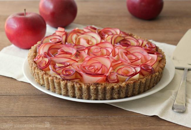 Apple Walnut Tart with Maple Custard   Baking A Moment