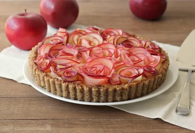 Apple Walnut Tart with Maple Custard | Baking A Moment