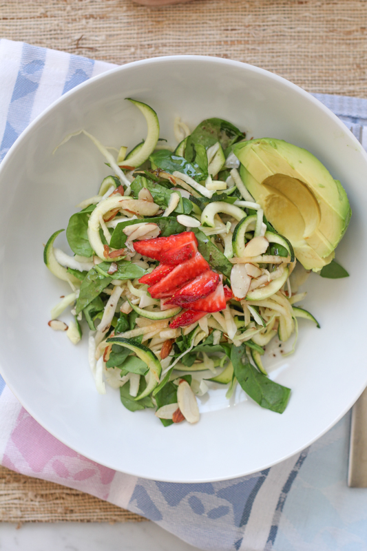 Apple Spinach Zucchini Salad_large | HipFoodieMom.com