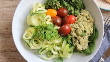 Spaghetti With Cauliflower Pesto Hip Foodie Mom