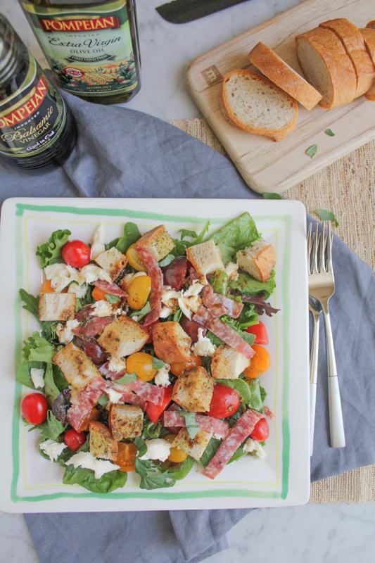 Hip Foodie Mom | Panzanella Salad with Salami_vert