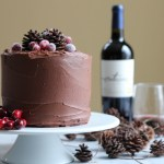 Rich, fudgy, chocolatey goodness . . . with a hint of Merlot. You need to try this cake. #chocolatemerlotcake #baking #holidays #cake #chocolatecake