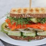 Vegan Power Sandwich with Asparagus Pesto