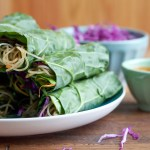 Spicy Asian Collard Green Wraps + A Giveaway!!
