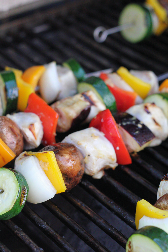 Kabobs on the grill.