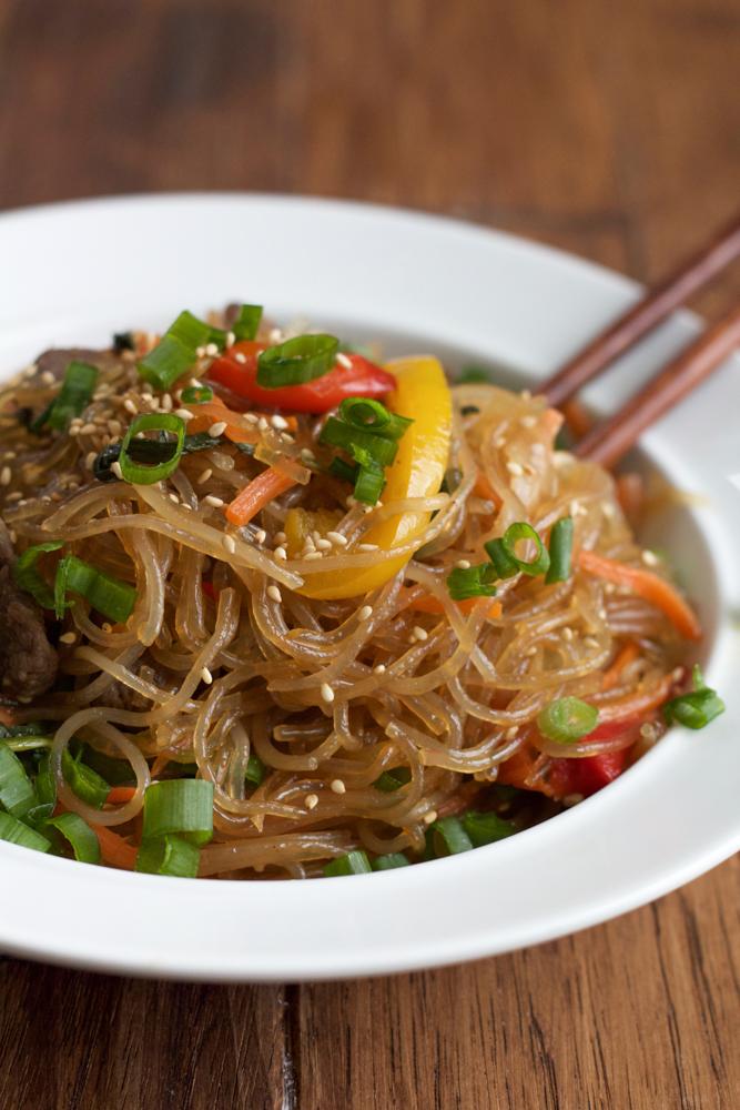 Korean main dish known as Japchae