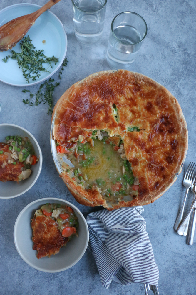 Chicken Pot Pie! Delicious, so easy to make and it all comes together in one pan! You've got to try this recipe!