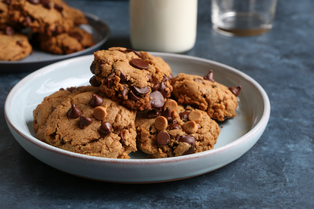 Peanut Butter Chocolate Chip Cookies from Christina Lane's new cookbook, Sweet & Simple! These cookies are so delicious! The recipe makes a dozen cookies! I love it!