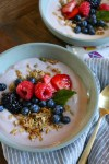 Mornings with Kite Hill Yogurt!Kite Hill almond milk yogurt with granola and fresh berries and honey! My kids love this for breakfast or as an after school snack!