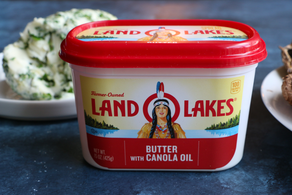 Herb Compound Butter Spread made withLand O Lakes® Butter with Canola Oil. It's so easy to make and delicious! This herb compound butter spread goes beautifully with grilled meats and vegetables!