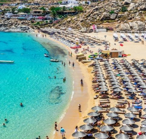SUPER PARADISE BEACH MYKONOS GREECE