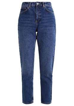 topshop mom jeans dark blue