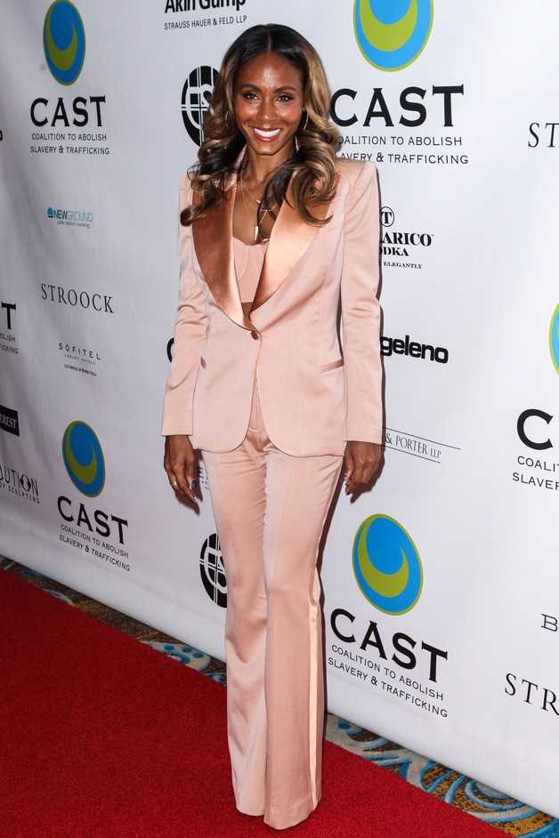 Jada Pinkett Smith arrives at The Coalition To Abolish Slavery And Trafficking 15th Annual From Slavery To Freedom Event at Sofitel Hotel in Los Angeles