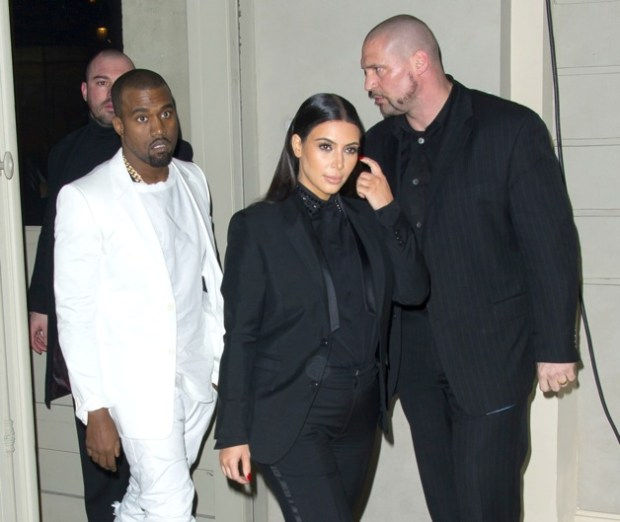 Kanye West and Kim Kardashian attend 'Diesel and Edun' party in Paris