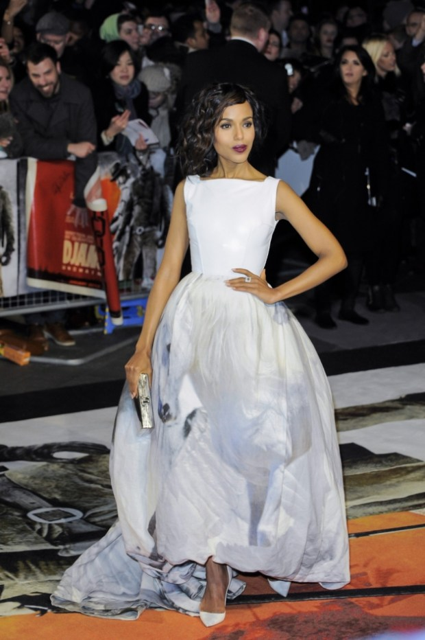 Kerry Washington attends the 'Django Unchained' London premiere at Empire Cinema in London