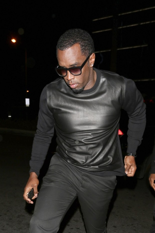 P. Diddy seen leaving the Usher birthday party at Bootsy Bellows club in Los Angeles