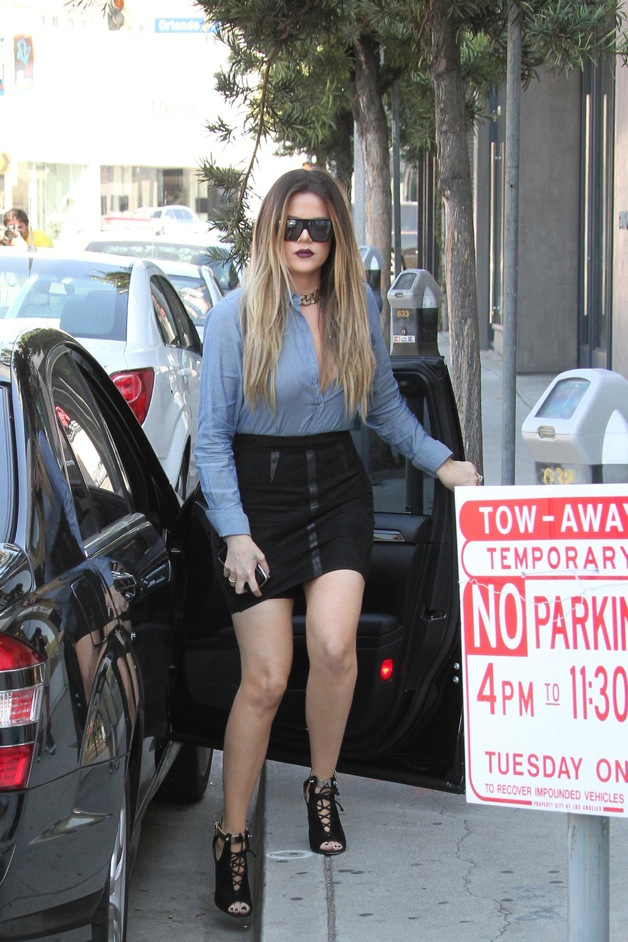 Khloe and Kourtney Kardashian seen at 'Dash' clothing at Melrose Avenue in Los Angeles