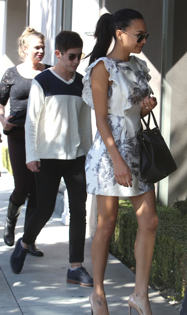 Naya Rivera seen out with co star Kevin McHale, family and friends in Los Angeles