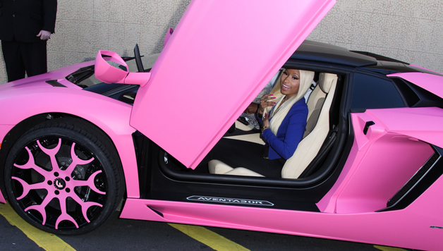 you ll never guess how much nicki minaj s pink lamborghini costs hiphollywood. Black Bedroom Furniture Sets. Home Design Ideas