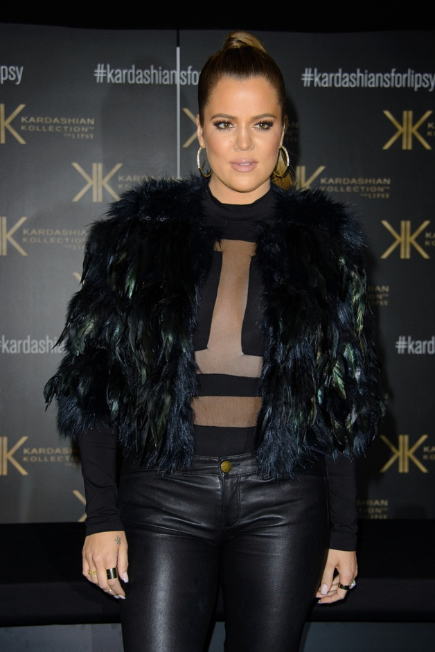 Khloe Kardashian arrives at a customer event to promote the Kardashian Kollection for Lipsy at Gilgamesh in London