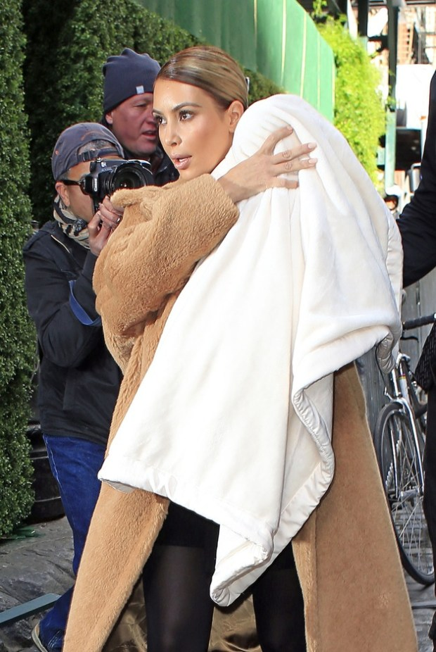Kim Kardashian heads to lunch at the Mercer Hotel with baby North in New York City
