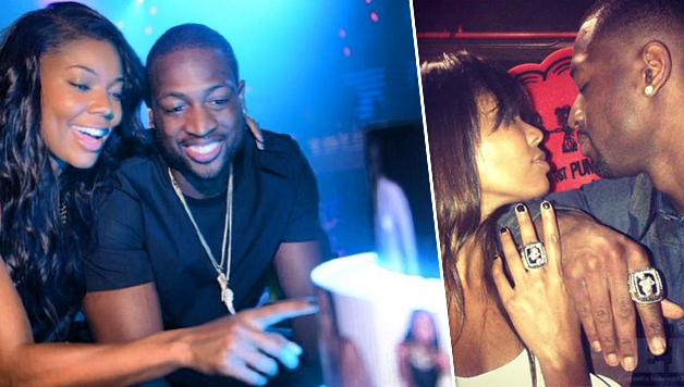 Gabrielle Union And Dwyane Wade Championship 2013 Dwyane Wade stopped by...