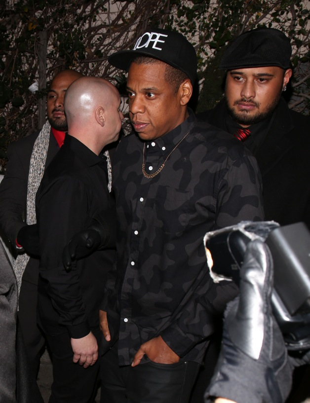 Jay-Z seen arriving at Lure Nightclub after his performance at Staples Center in Los Angeles