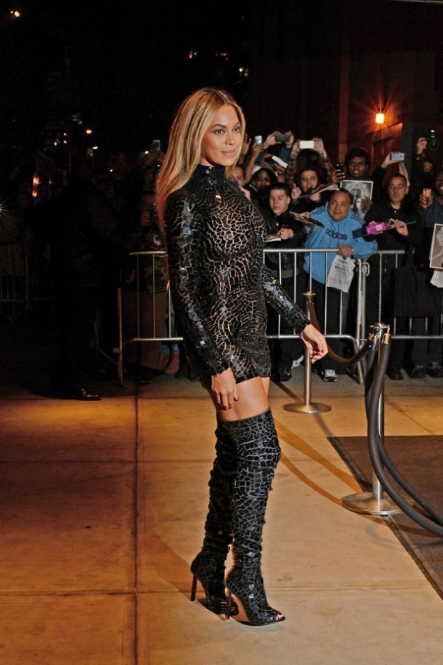 Beyonce steps out attending a release party and screening for her new self-titled album 'Beyonce' at the 'School of Visual Arts Theater', in New York City