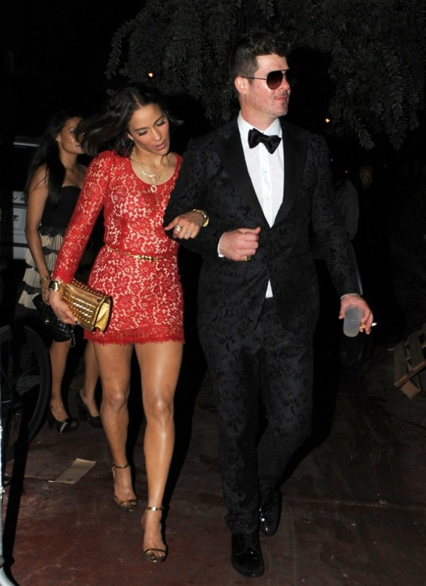 **EXCLUSIVE** Robin Thicke and wife Paula Patton seen together on New Years Eve in Miami