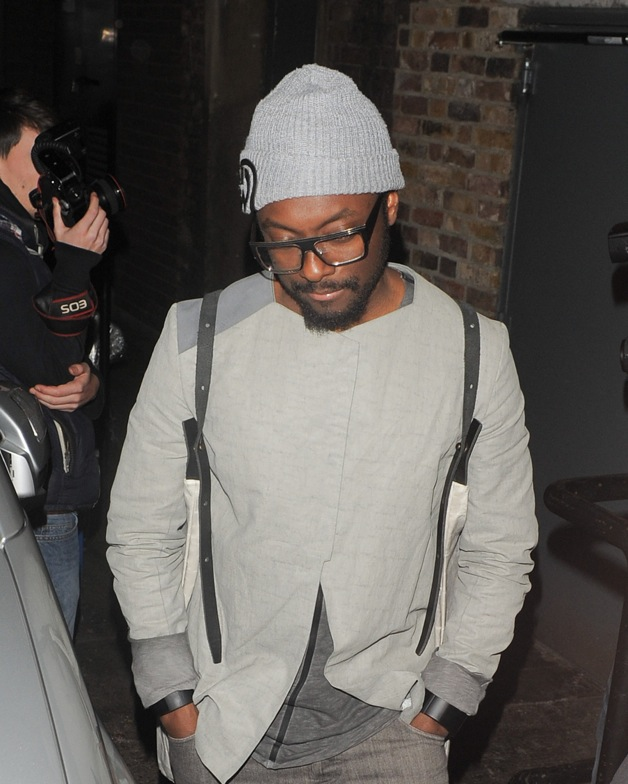 Will.i.am seen leaving the Arts Club in Mayfair, London